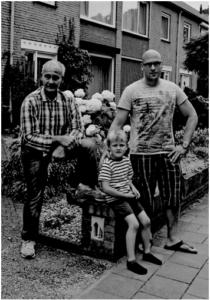 Vlnr : Siegfried, kleinzoon Evert en zoon Dennis Fijnvandraat