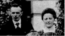 Evert en Anna Maria (van een groepsfoto uit 1913)